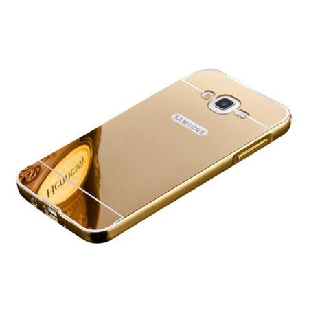 Mirror bumper case na Glaxy J1 - Złoty