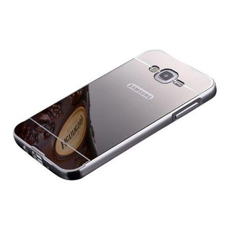 Mirror bumper case na Glaxy J1 - Srebrny