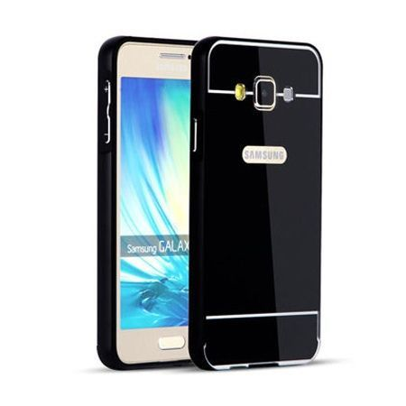 Mirror bumper case na Galaxy A3 - Czarny