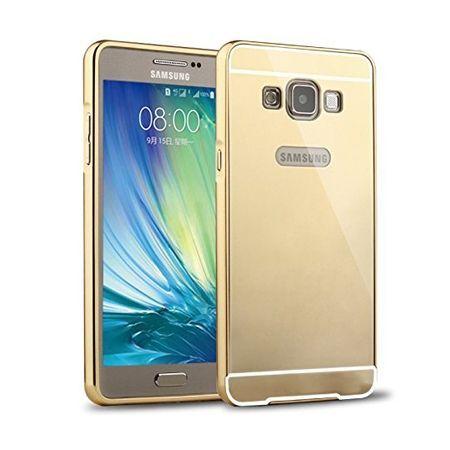 Mirror bumper case na Galaxy A7 - Złoty