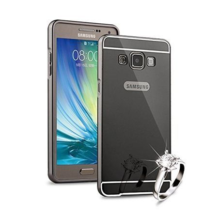 Mirror bumper case na Galaxy A7 - Czarny