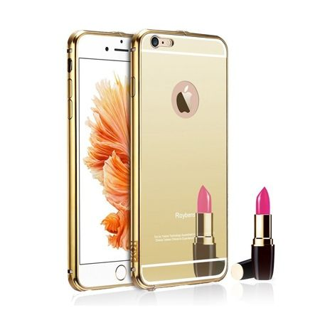 Mirror bumper case na iPhone 6 PLUS - Złoty