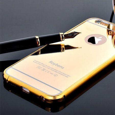 Mirror bumper case na iPhone 6 PLUS - Złoty