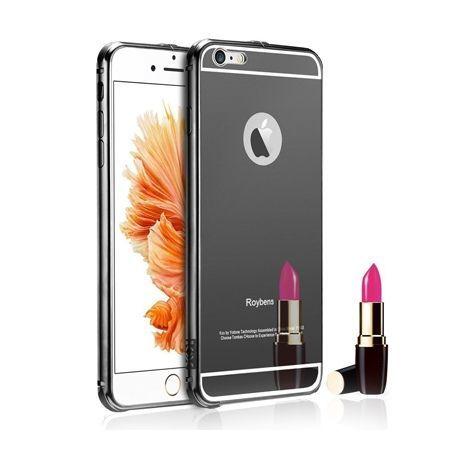 Mirror bumper case na iPhone 6 PLUS - Czarny