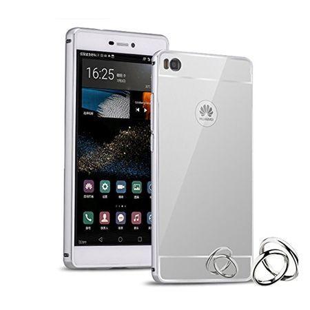 Mirror bumper case na Huawei P8 - Srebrny
