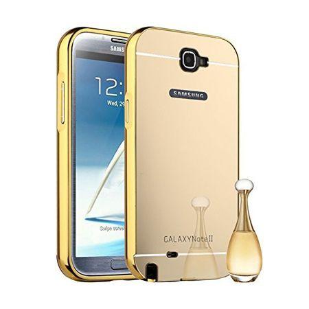 Mirror bumper case na Galaxy Note 2 - Złoty