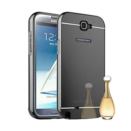 Mirror bumper case na Galaxy Note 2 - Czarny