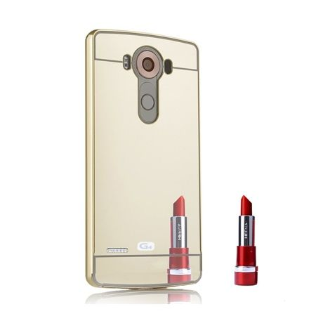 Mirror bumper case na LG G4 - Złoty