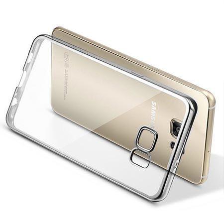 Galaxy S7 silikonowe etui platynowane SLIM kolor srebrne.