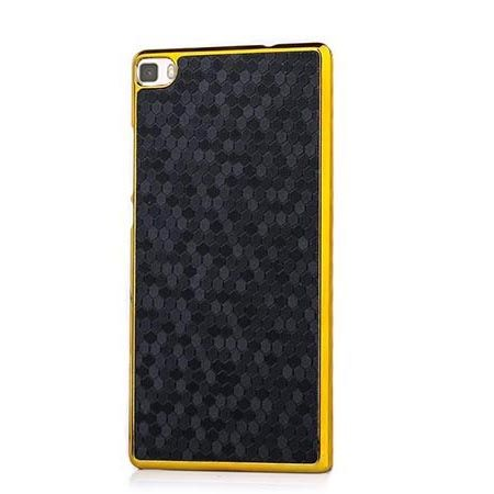 Huawei P8 Lite platynowane plecki Grain - czarne. PROMOCJA !!!