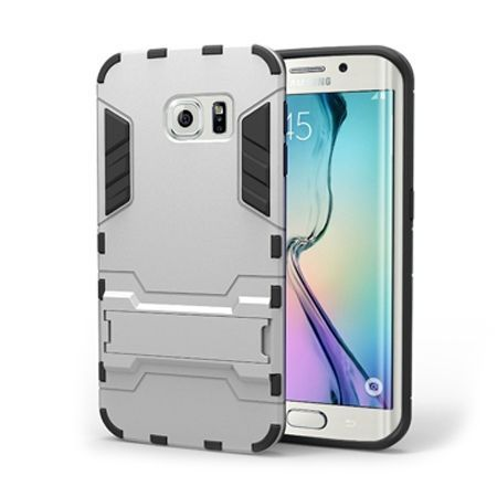 Pancerne etui na Samsung Galaxy S6 Edge - Srebrny