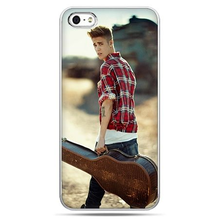Etui na telefon Justin Bieber z gitarą.