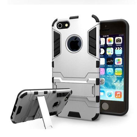 Pancerne etui na iPhone 5 - Srebrny