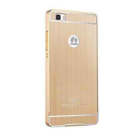 Huawei P8 Lite szczotkowany bumper case - złoty.