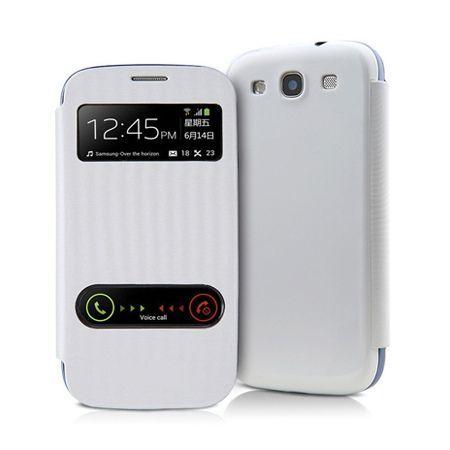 Etui na Samsung Galaxy S5 - flip dwa okienka z klapką - Biały