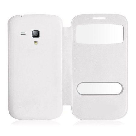 Etui na Samsung Galaxy S3 mini - flip dwa okienka z klapką - Biały