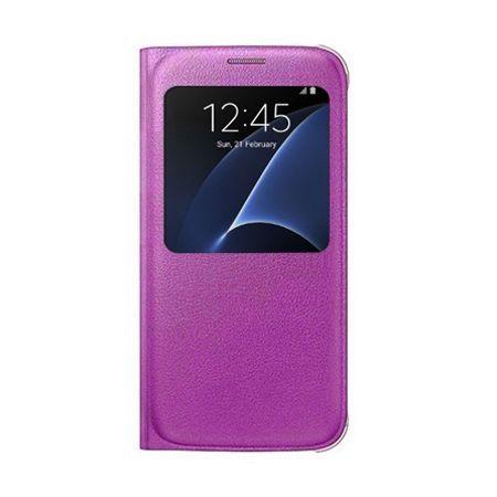 Etui na Samsung Galaxy S7 - flip S-View z klapką - Różowy