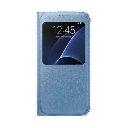 Etui na Samsung Galaxy S7 - flip S-View z klapką - Niebieskie