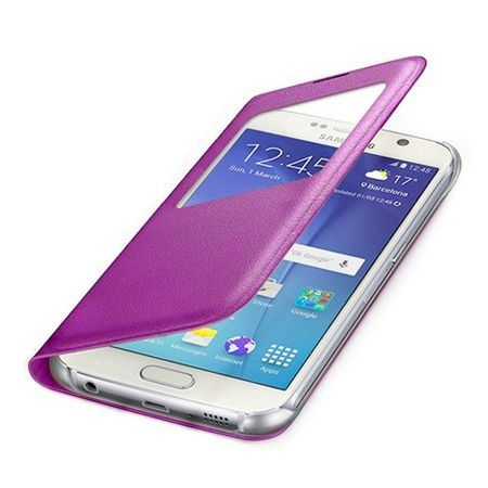 Etui na Samsung Galaxy S7 Edge - flip S-View z klapką - Różowy