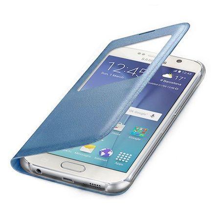 Etui na Samsung Galaxy S7 Edge - flip S-View z klapką - Niebieki