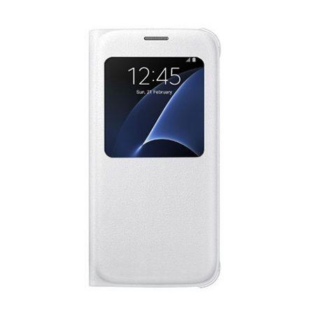 Etui na Samsung Galaxy S6 Edge Plus - flip S-View z klapką - Biały