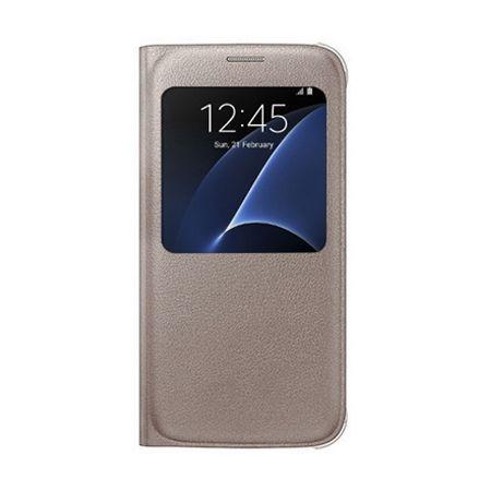 Etui na Samsung Galaxy S6 Edge Plus - flip S-View z klapką - Złoty