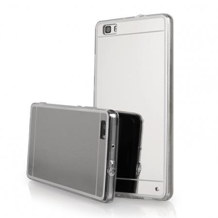 Etui na Huawei P8 mirror - lustro silikonowe lustrzane TPU - srebrne.