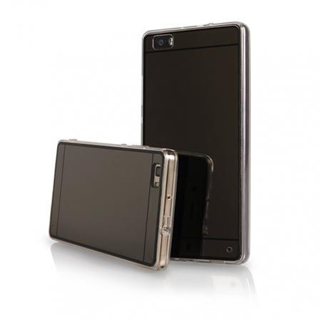 Etui na Huawei P8 mirror - lustro silikonowe lustrzane TPU - czarne.