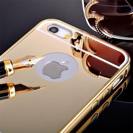 iPhone 5 / 5s etui Mirror aluminium bumper case lustro - złoty.