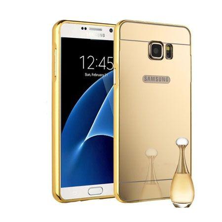 Mirror bumper case na Galaxy S7 - Złoty