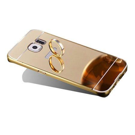 Mirror bumper case na Galaxy S7 Edge - Złoty