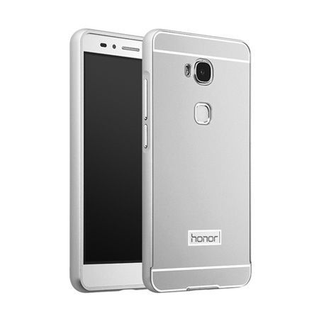 Bumper case na Huawei Honor 5X - Srebrny