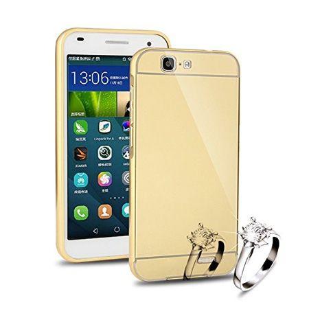 Mirror bumper case na Huawei G7- Złoty
