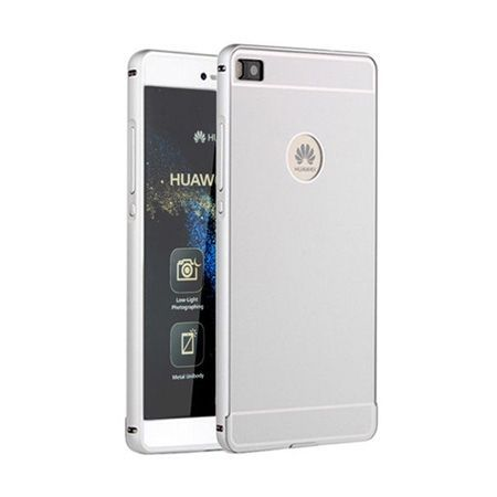 Bumper case na Huawei P8 - Srebrny