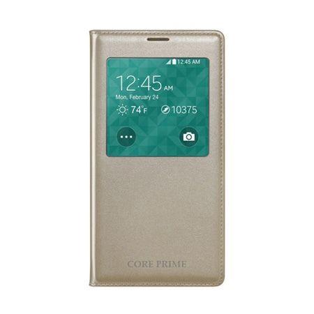 Etui na Galaxy Core Prime - flip S-View z klapką - Złoty