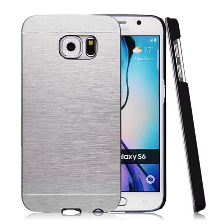 Galaxy S6 etui Motomo aluminiowe srebrny.