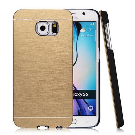 Galaxy S6 etui Motomo aluminiowe złoty. PROMOCJA !!!
