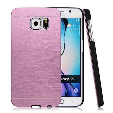 Galaxy S6 etui Motomo aluminiowe różowy.