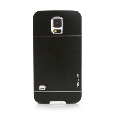 Samsung Galaxy S5 / S5 Neo etui Motomo aluminiowe czarny.