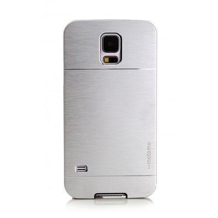 Samsung Galaxy S5 / S5 Neo etui Motomo aluminiowe srebrny.