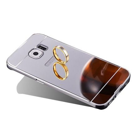 Mirror bumper case na Galaxy S7 Edge - Srebrny
