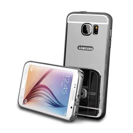 Mirror bumper case na Galaxy S7 Edge - Czarny