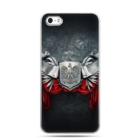 Etui na telefon iPhone 5 / 5s patriotyczne - stalowe godło