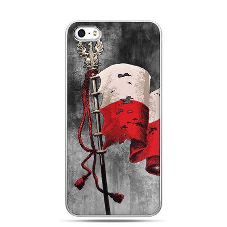 Etui na telefon iPhone 5 / 5s patriotyczne - flaga Polski