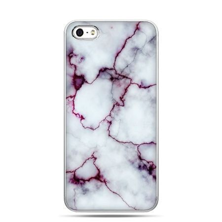 iPhone 5 , 5s etui na telefon różowy marmur