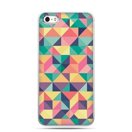 iPhone 5 , 5s etui na telefon kolorowe trójkąty