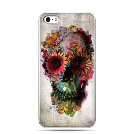 iPhone 5 , 5s etui na telefon czaszka z kwiatami