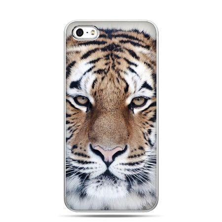 iPhone 5 , 5s etui na telefon śnieżny tygrys