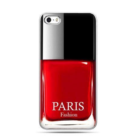 iPhone 5c etui lakier do paznokci czerwony