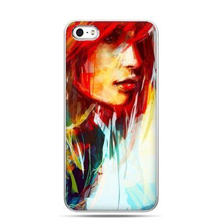 iPhone 5c etui kobieta akwarela